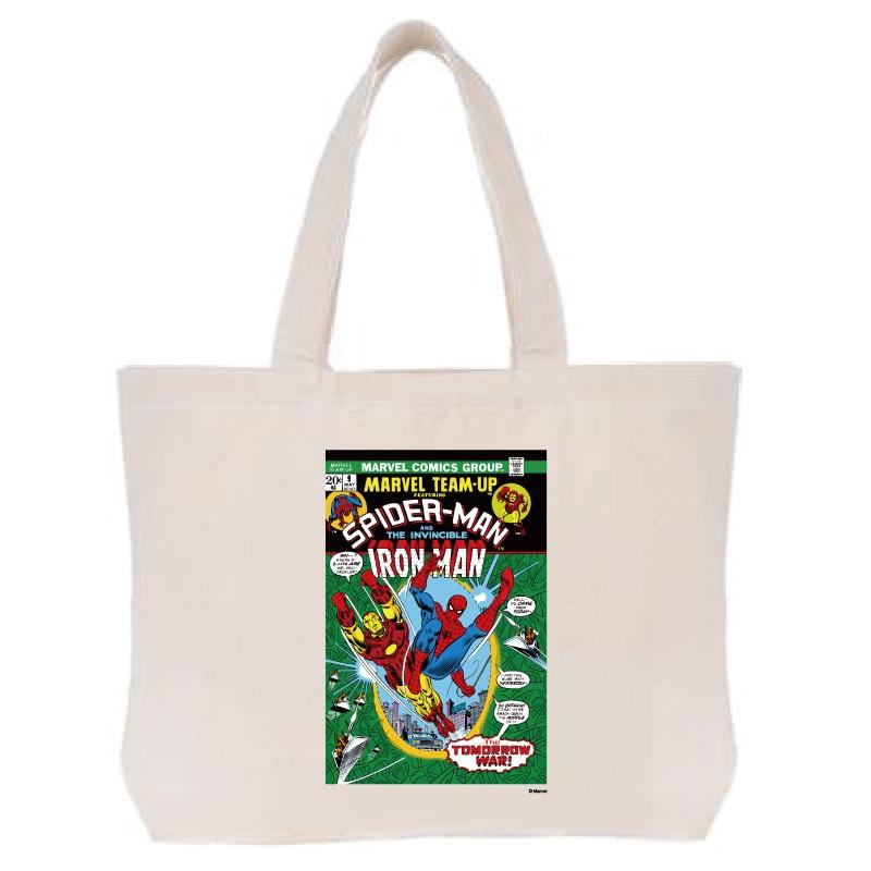 【D-Made】トートバッグ  MARVEL コミック スパイダーマン アイアンマン