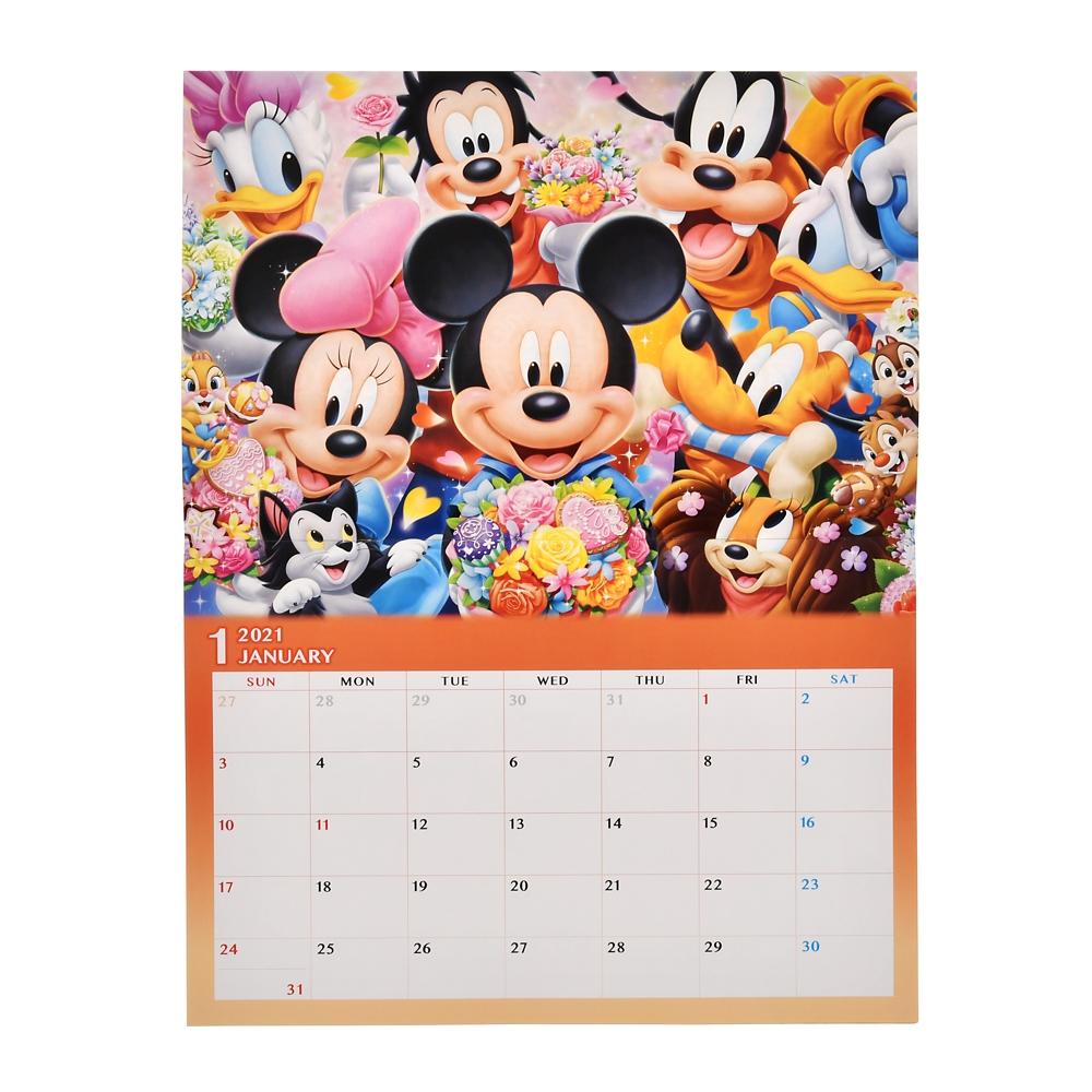 ミッキー&フレンズ 壁掛けカレンダー 2021