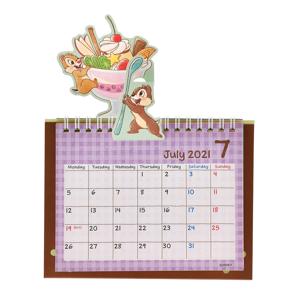 チップ&デール 卓上カレンダー 2021 くいしんぼう ポップアップ