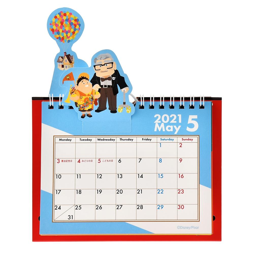 ピクサーキャラクター 卓上カレンダー 2021 All Star ポップアップ