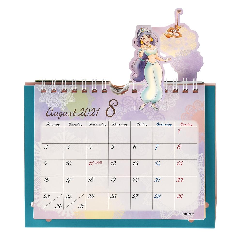 ディズニープリンセス 卓上カレンダー 2021 フレンド ポップアップ