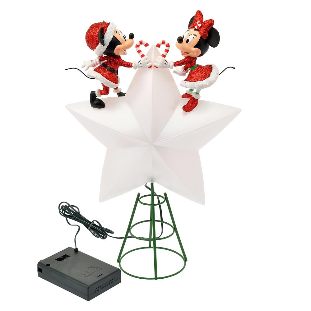 ミッキー&ミニー オーナメント・ツリートッパー ライトアップ Disney Christmas 2020