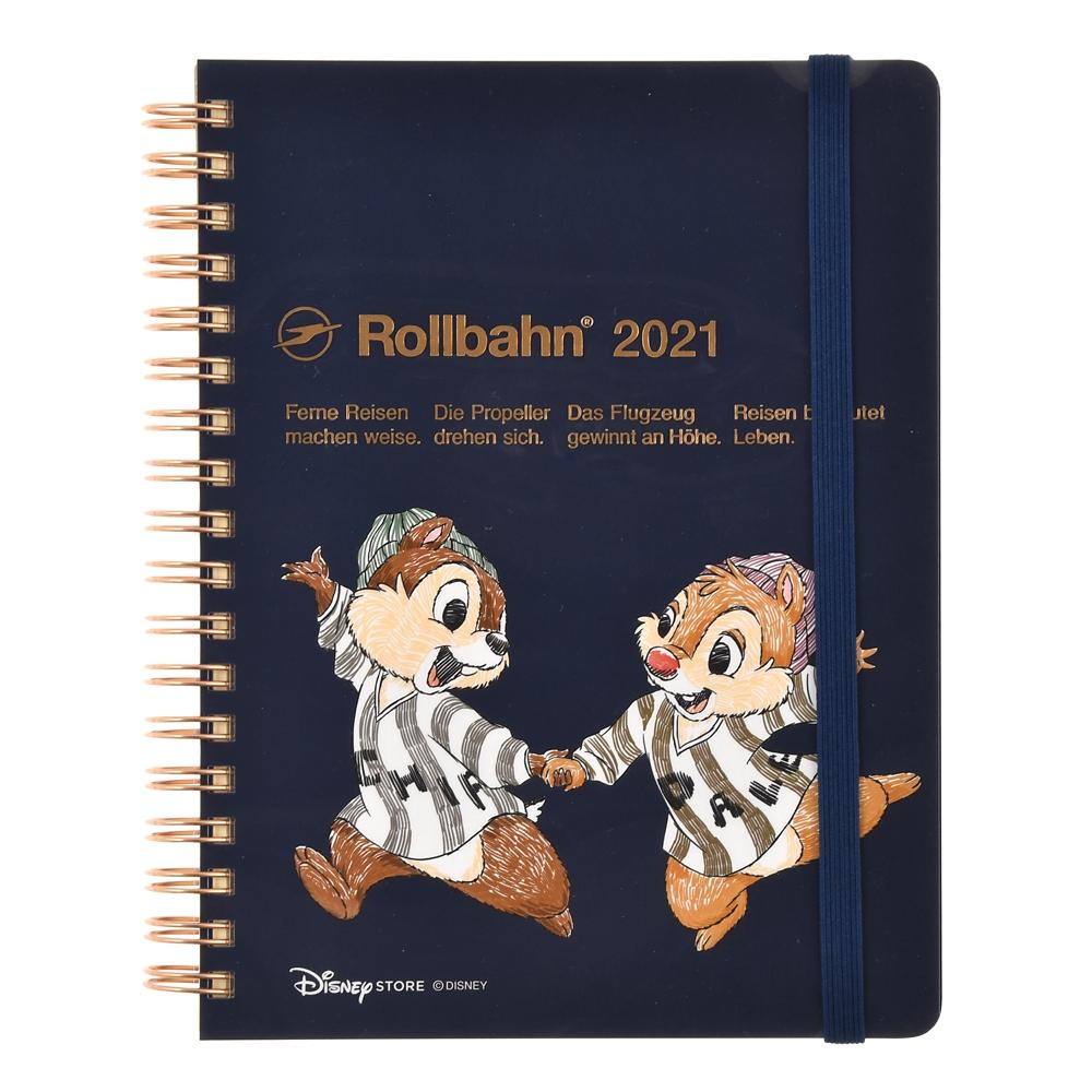 【デルフォニックス】チップ&デール Rollbahn 手帳・スケジュール帳 2021
