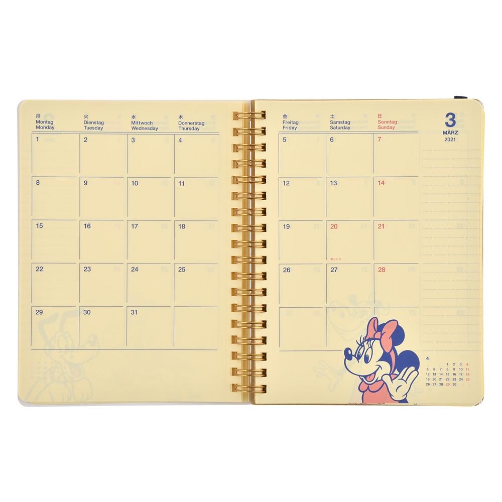 【デルフォニックス】ミッキー&フレンズ Rollbahn 手帳・スケジュール帳 2021