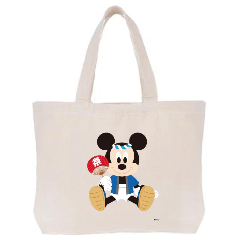 【D-Made】トートバッグ  ミッキーマウス お祭り