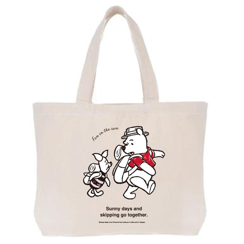 【D-Made】トートバッグ  クールサマー くまのプーさん プー&ピグレット