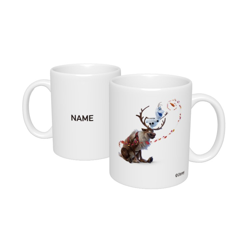 【D-Made】名入れマグカップ  アナと雪の女王2 オラフ&スヴェン