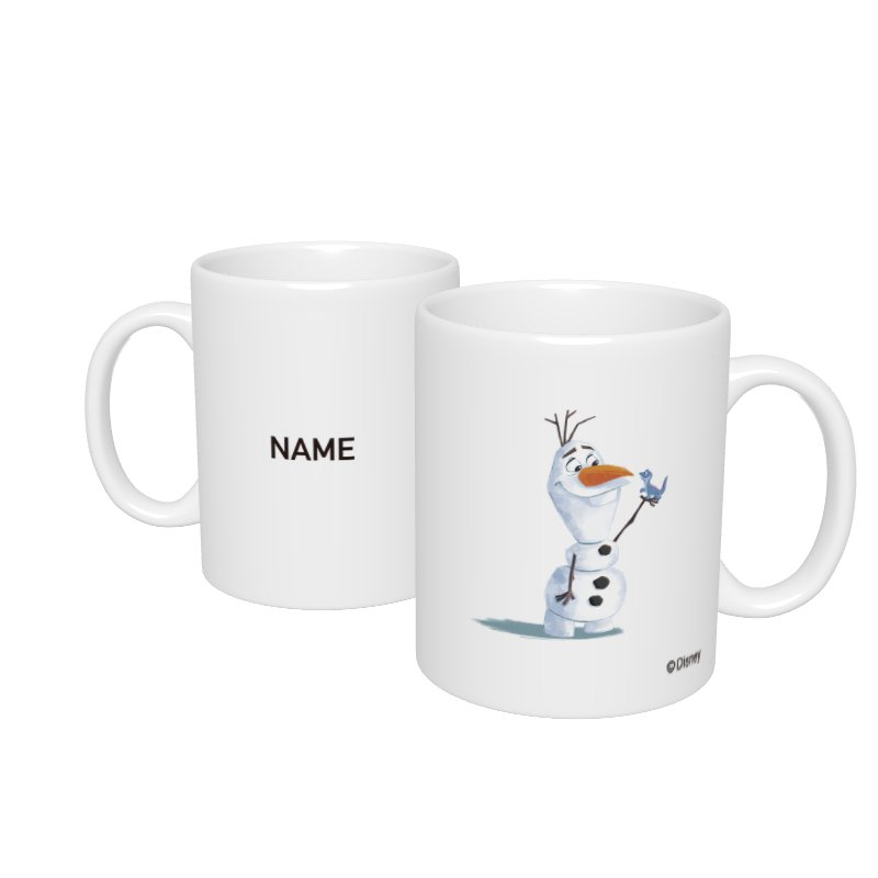 【D-Made】名入れマグカップ  アナと雪の女王2 オラフ