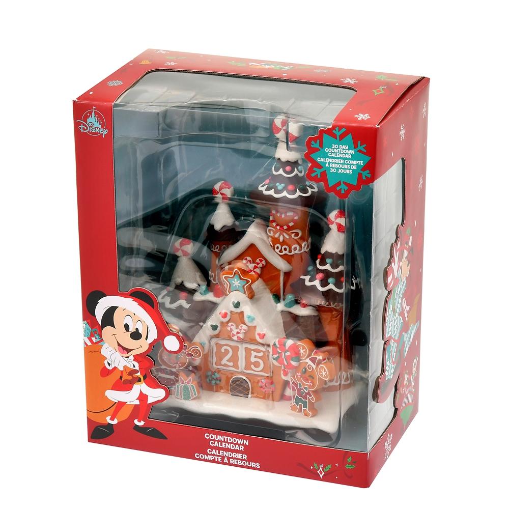ミッキー&ミニー カウントダウンカレンダー フィギュア ジンジャーブレッド Disney Christmas 2020