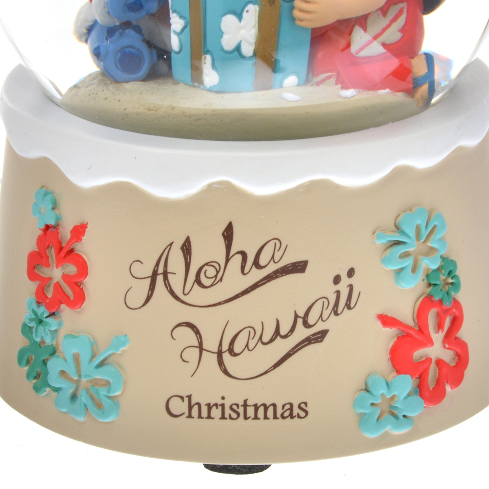 リロ&スティッチ スノードーム Hawaiian Christmas