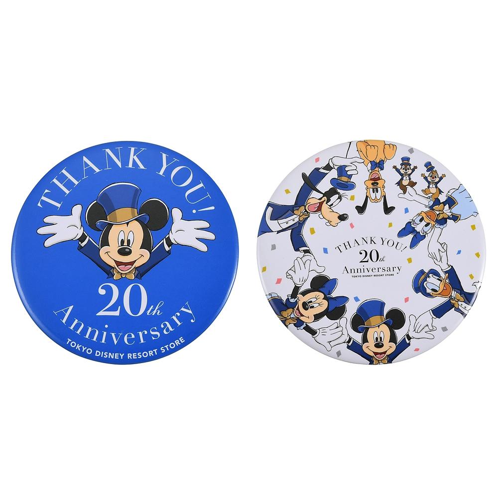ミッキー&フレンズ シークレット缶バッジ TOKYO DISNEY RESORT STORE 20th Anniversary