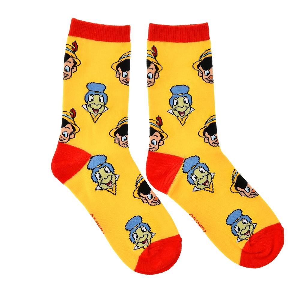 ピノキオ&ジミニー・クリケット 靴下 イエロー