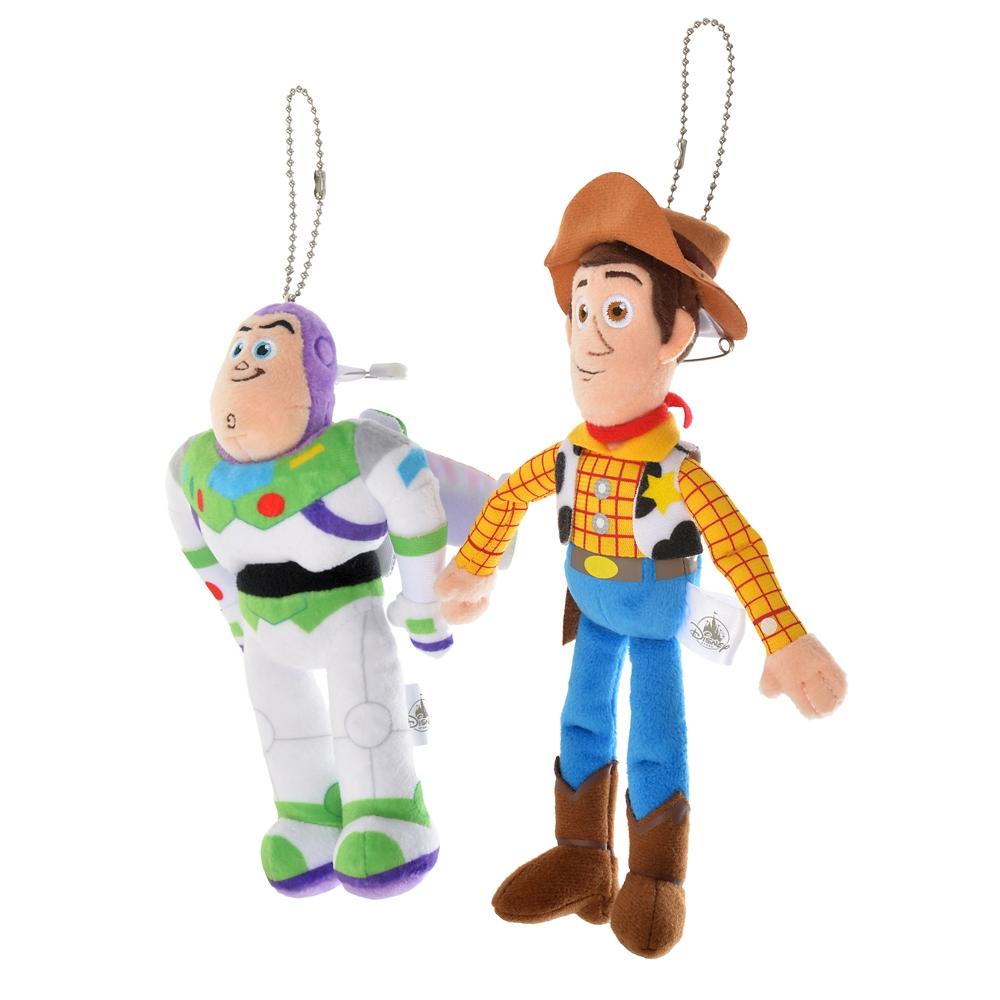 ウッディ&バズ・ライトイヤー ぬいぐるみキーホルダー・キーチェーン ペア Pixar Better Together