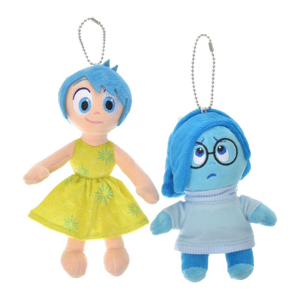 ヨロコビ&カナシミ ぬいぐるみキーホルダー・キーチェーン ペア Pixar Better Together