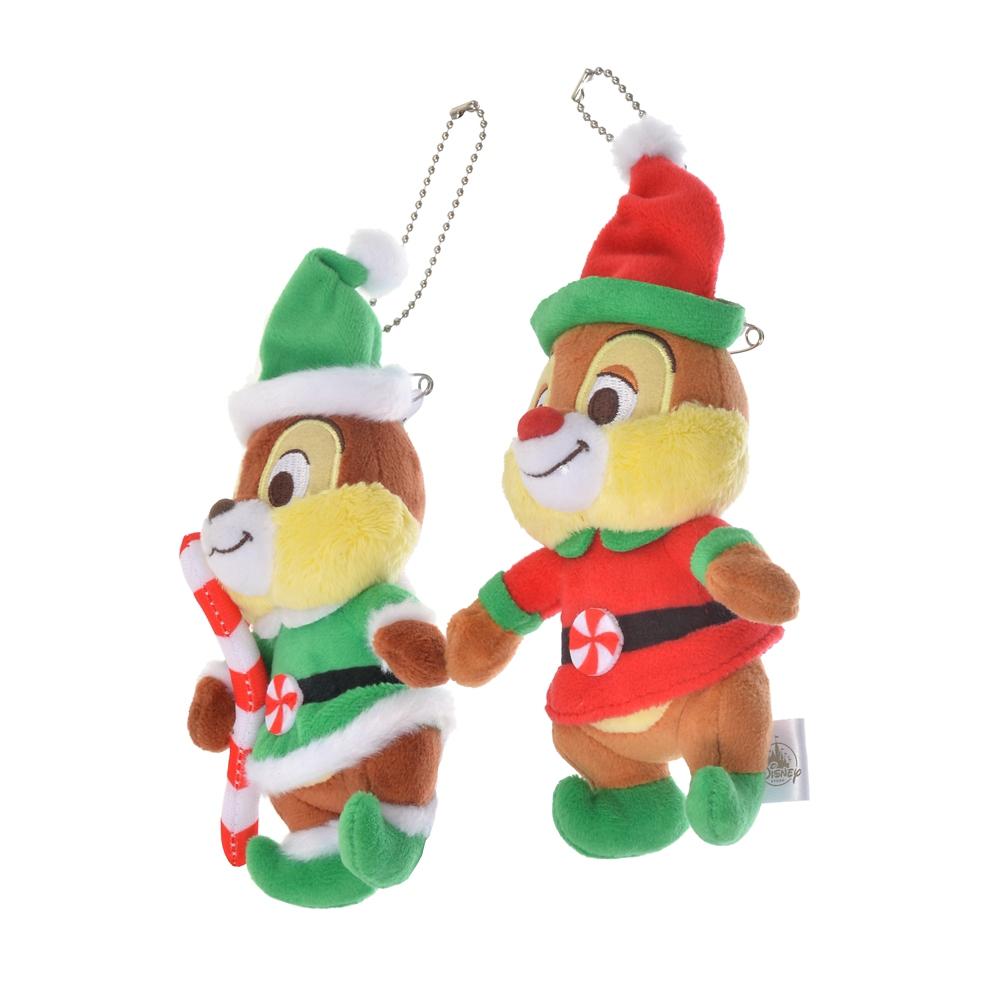チップ&デール ぬいぐるみキーホルダー・キーチェーン Disney Christmas 2020