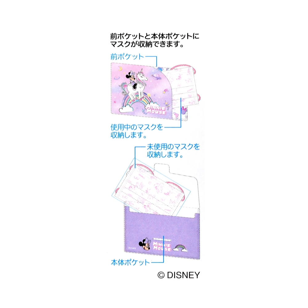 ミニー キッズ用マスク・マスクケース セット ユニコーン
