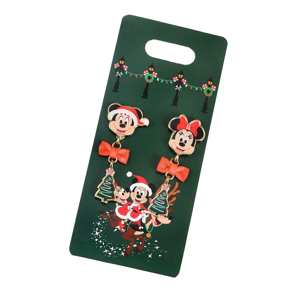 ミッキー&ミニー イヤリング Disney Christmas 2020