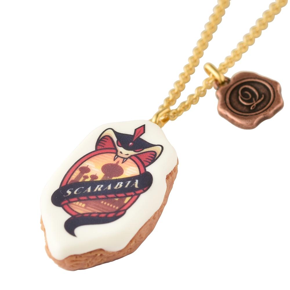 【キューポット】ツイステッドワンダーランド スカラビア寮/ネックレス シュガークッキー【受注生産】