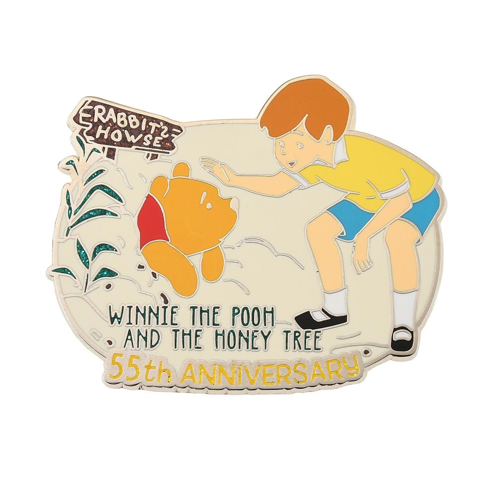 プーさん&クリストファー・ロビン ピンバッジ レガシー Winnie the Pooh And The Honey Tree 55th Anniversary