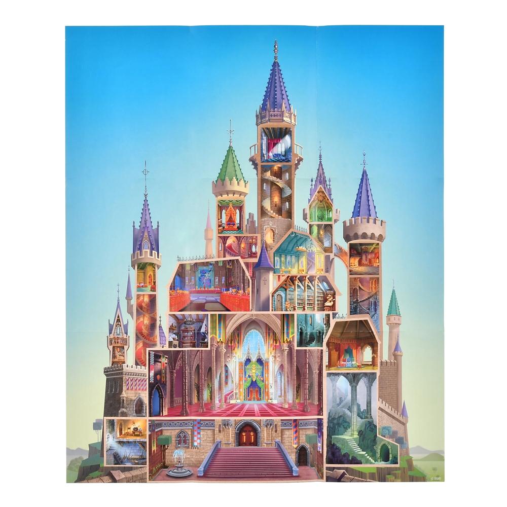 眠れる森の美女 ノートブック ポスター付き 城 Disney Castle Collection