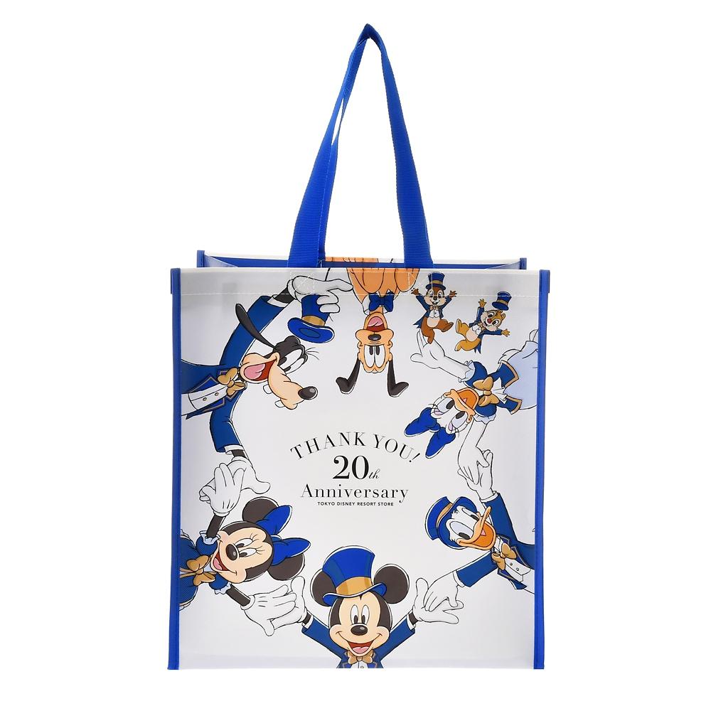 ミッキー&フレンズ ショッピングバッグ・エコバッグ  TOKYO DISNEY RESORT STORE 20th Anniversary