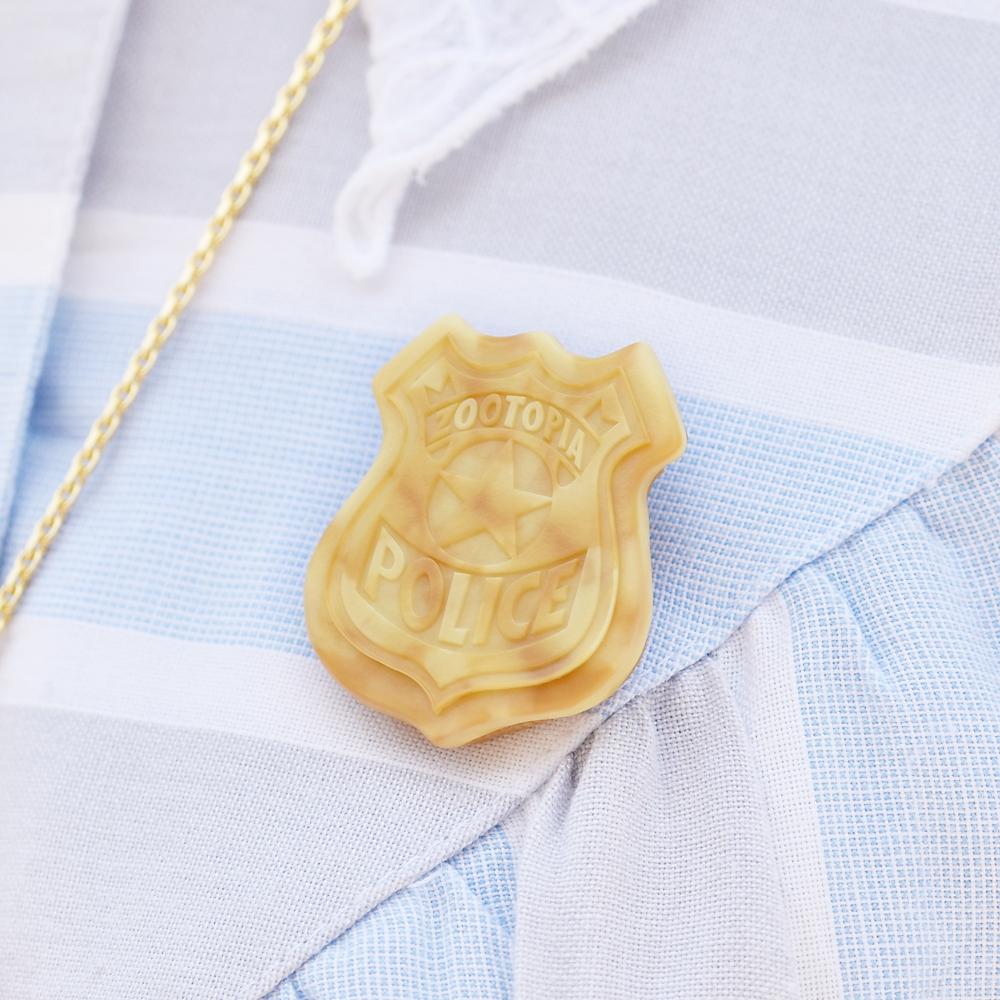【キューポット】ズートピア 警察バッジ/ブローチ クッキー