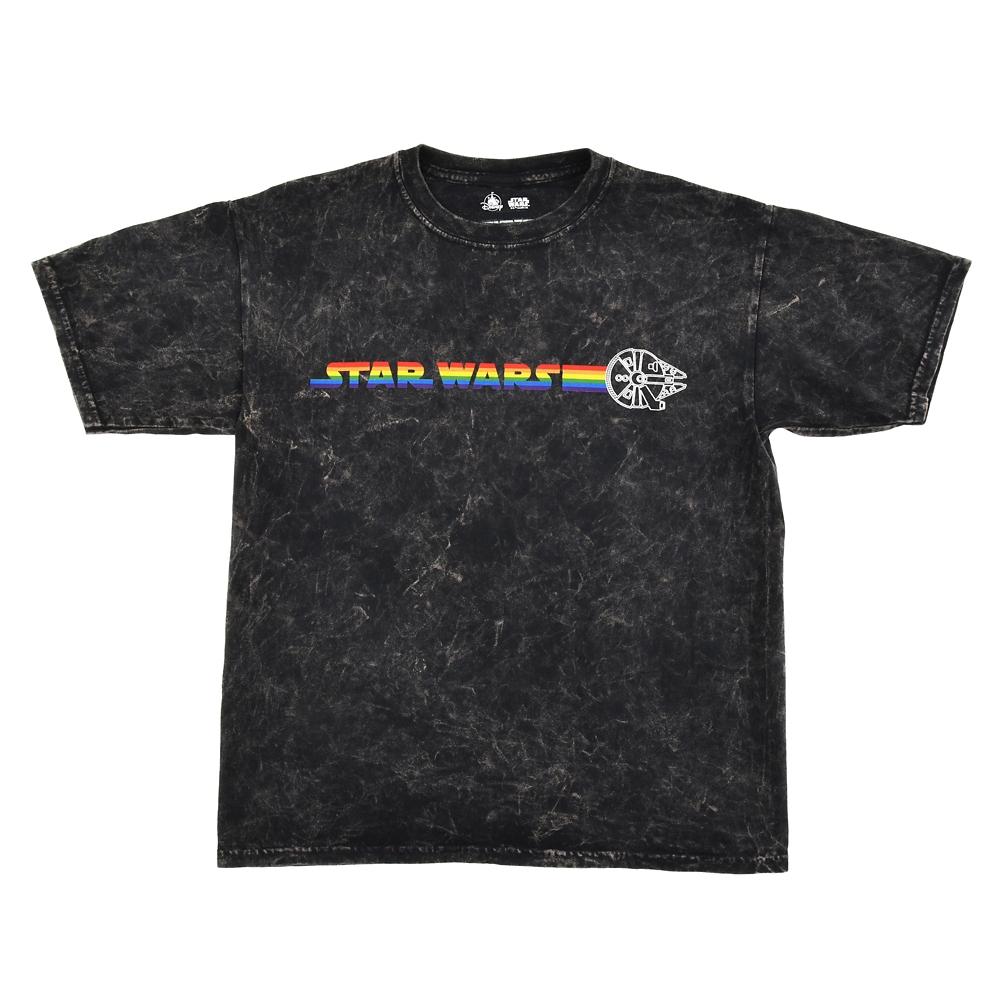 スター・ウォーズ ミレニアム・ファルコン 半袖Tシャツ (M) The Walt Disney Company's Pride collection