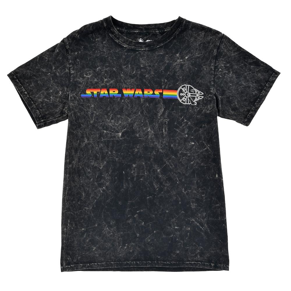スター・ウォーズ ミレニアム・ファルコン 半袖Tシャツ (L) The Walt Disney Company's Pride collection
