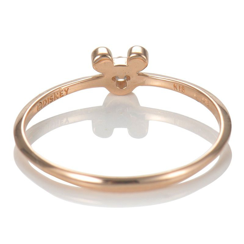 【D-Made】バースストーンピンキーリング Anniversary Jewelry ミッキーアイコン エメラルド