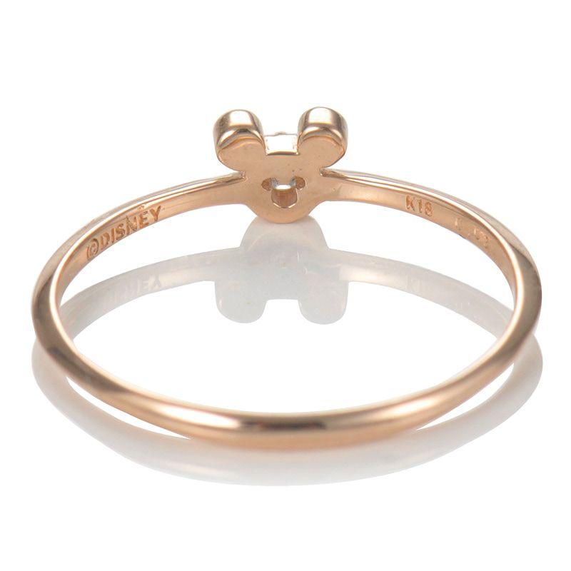 【D-Made】バースストーンピンキーリング Anniversary Jewelry ミッキーアイコン ピンクトルマリン