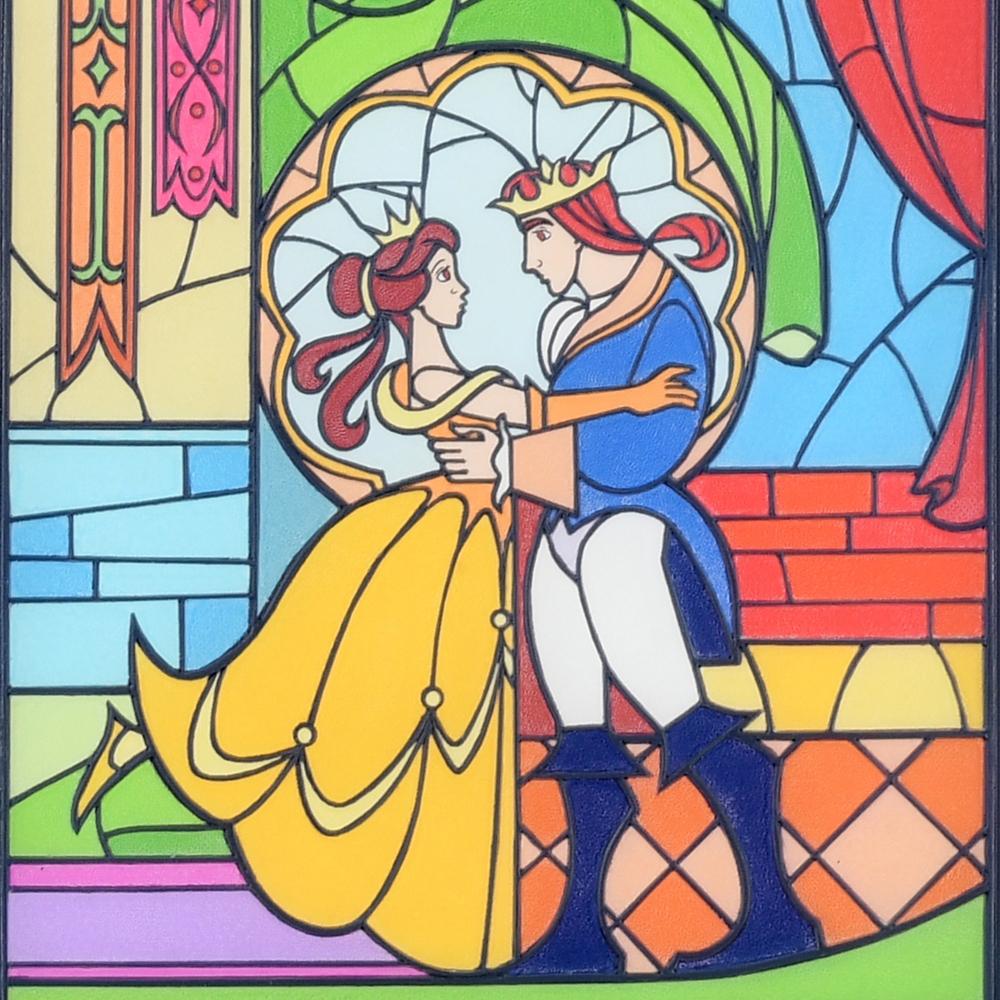 【受付終了】【ゲストリクエスト受注】美女と野獣 オブジェ 壁掛け ステンドグラス風