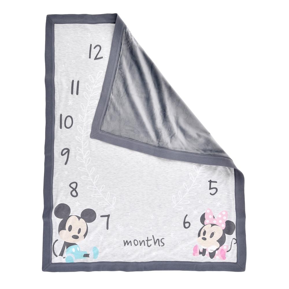 ミッキー&ミニー ブランケット マイルストーン Disney baby