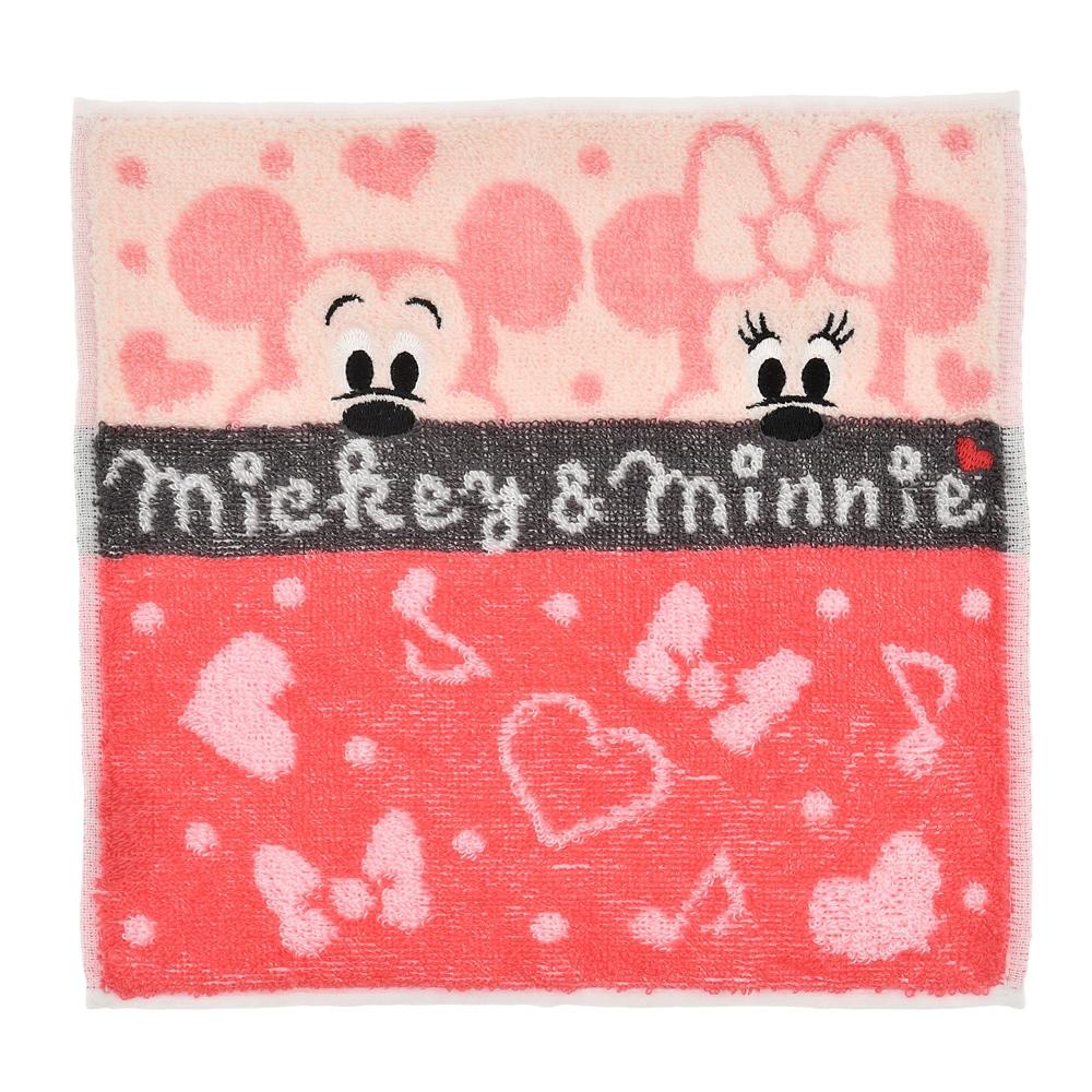 ミッキー&ミニー ミニタオル ひょこっ