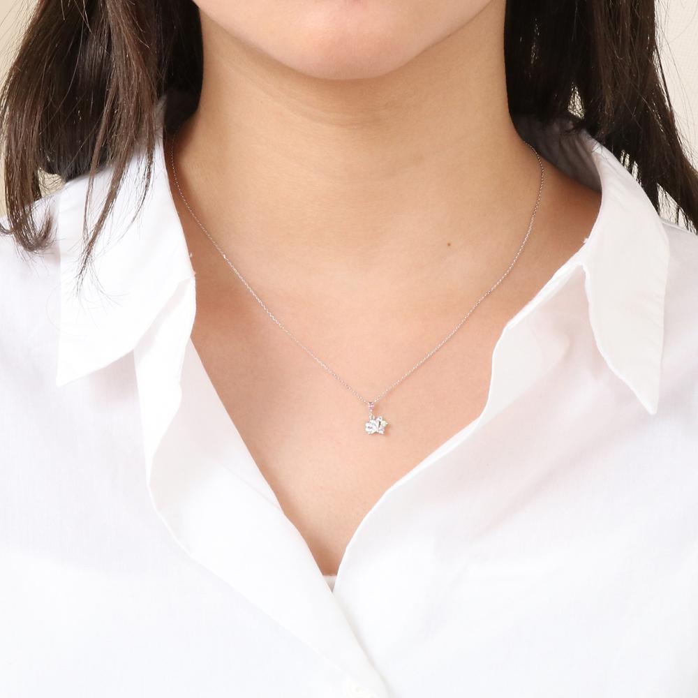 【ザ・キッス】DI-WN1827AM ディズニープリンセス アリエル / ホワイトゴールド ネックレス