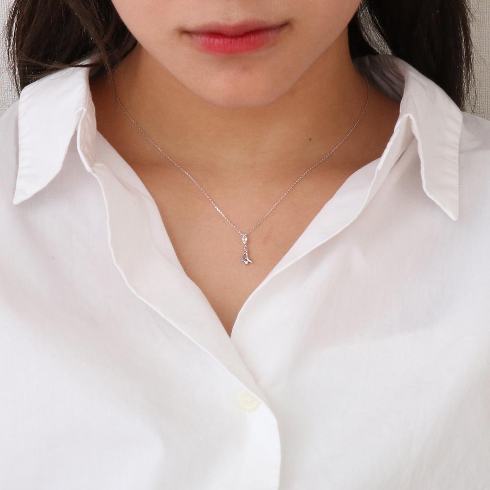 【ザ・キッス】DI-WN1826SP ディズニープリンセス シンデレラ / ホワイトゴールド ネックレス