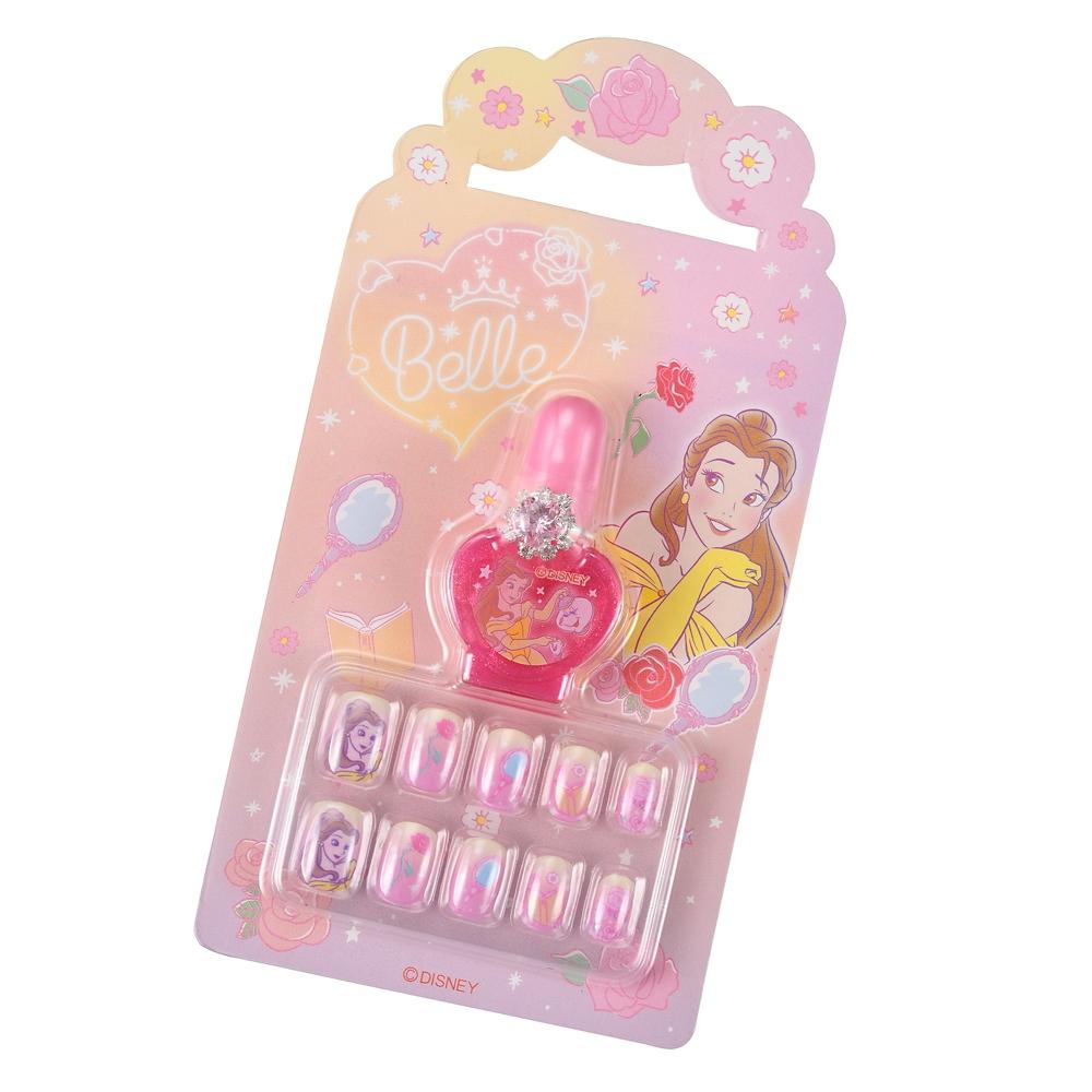 ベル&ポット夫人とチップ キッズ用ネイルセット 指輪付き ネオンロゴ