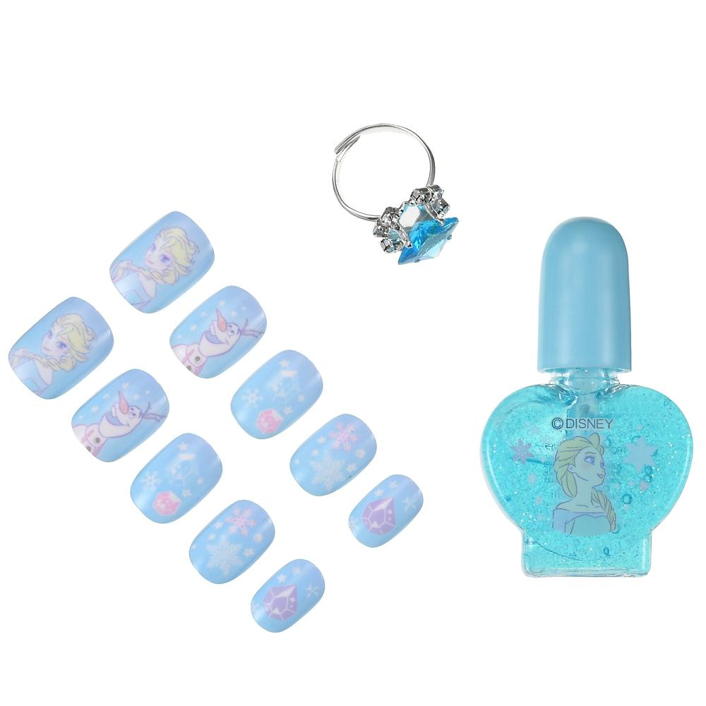 エルサ&オラフ キッズ用ネイルセット 指輪付き ネオンロゴ