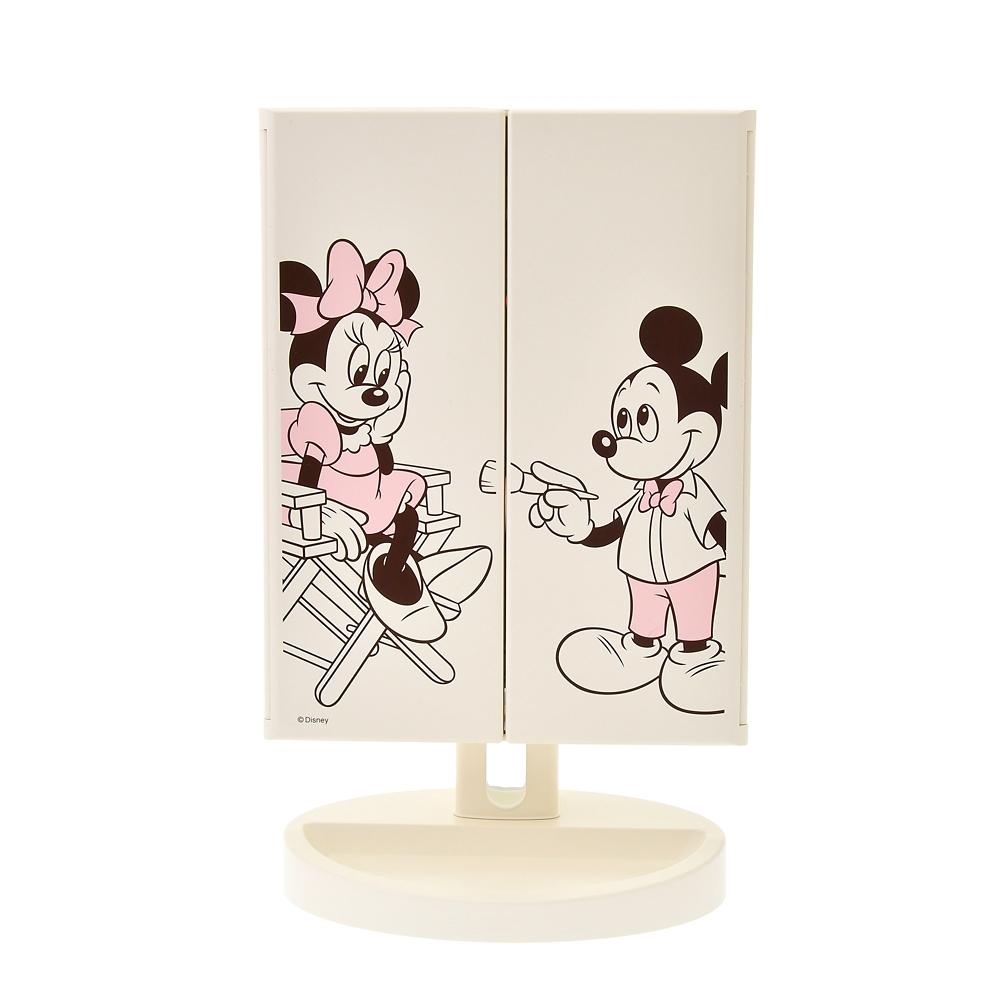 ミッキー&ミニー LEDスタンドミラー Make Up