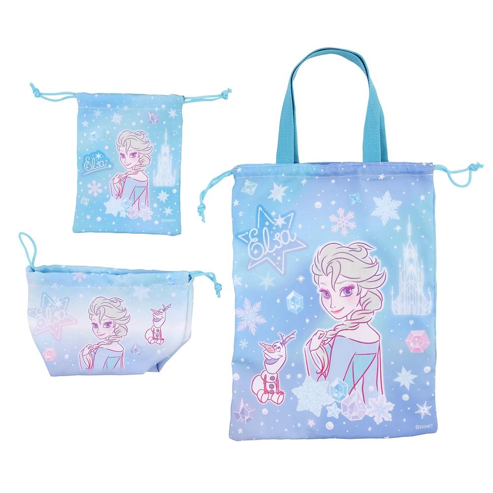 エルサ&オラフ 巾着 セット ネオンロゴ Back to School