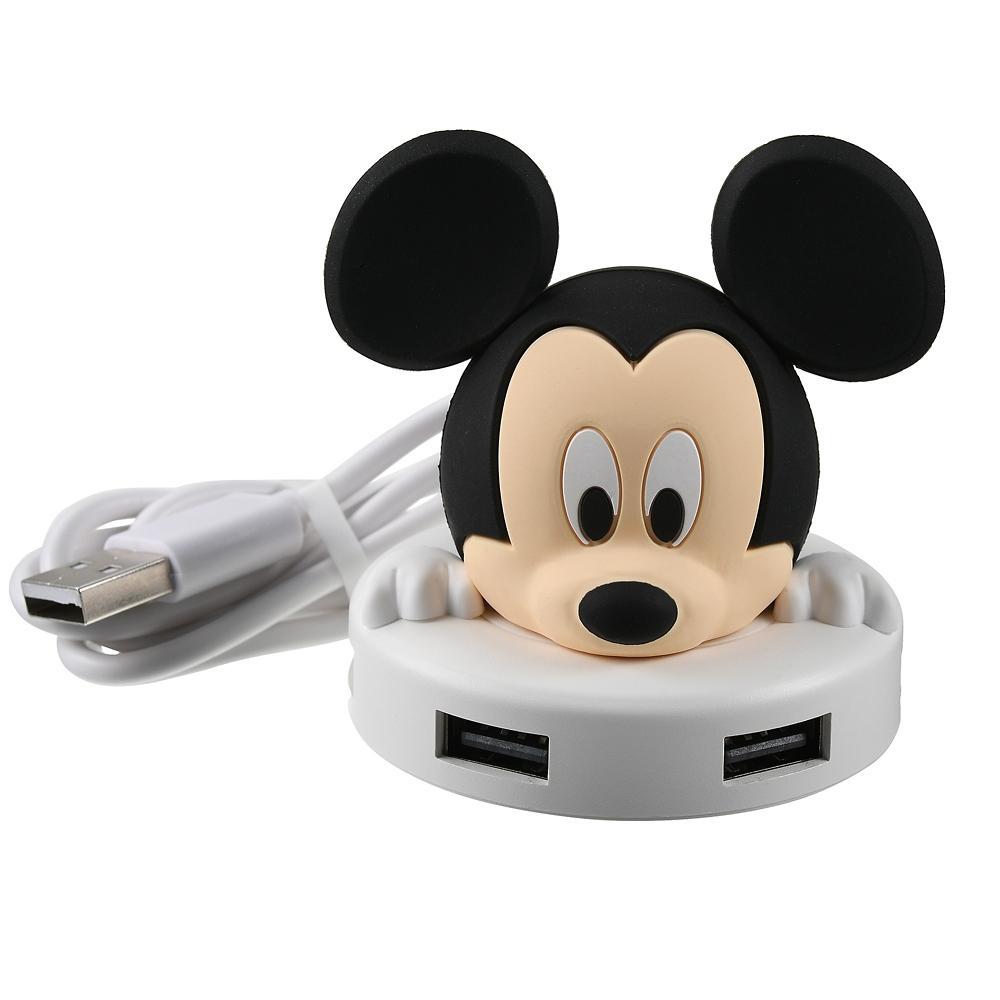 ミッキー USBハブ 4ポート with D