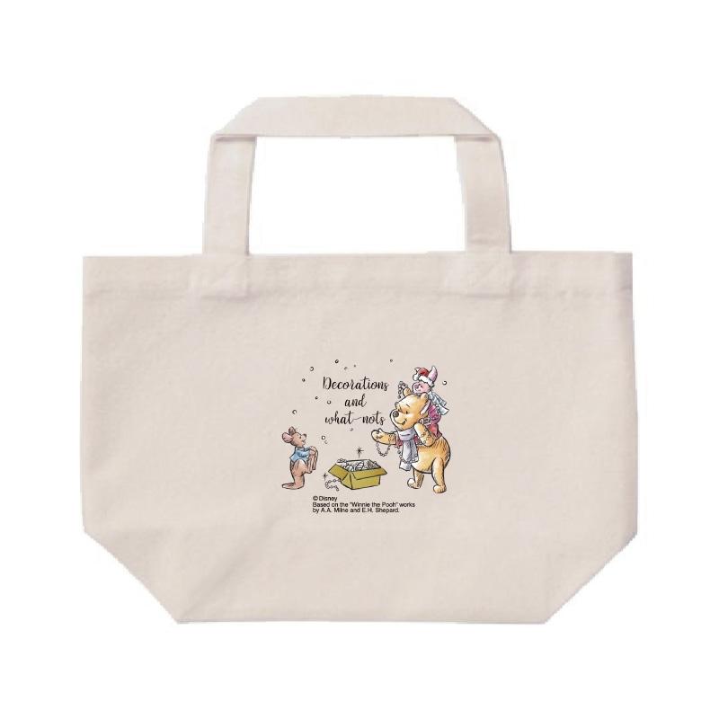 【D-Made】ミニトートバッグ  くまのプーさん プー&ピグレット&ルー クリスマス