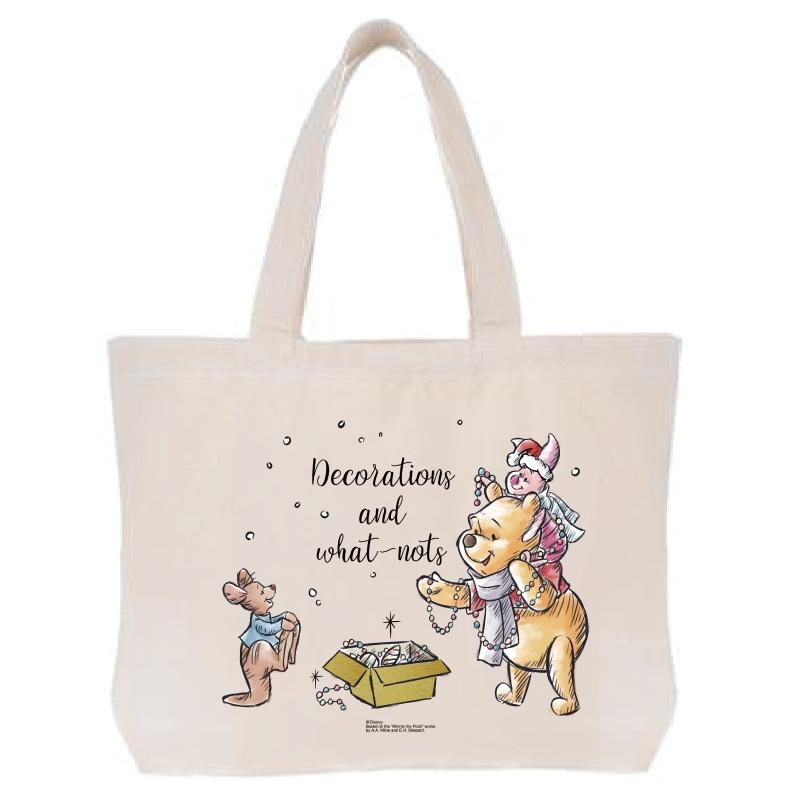 【D-Made】トートバッグ  くまのプーさん プー&ピグレット&ルー クリスマス