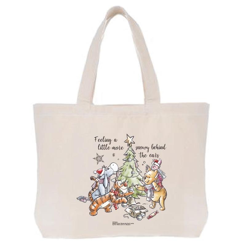 【D-Made】トートバッグ  くまのプーさん クリスマス