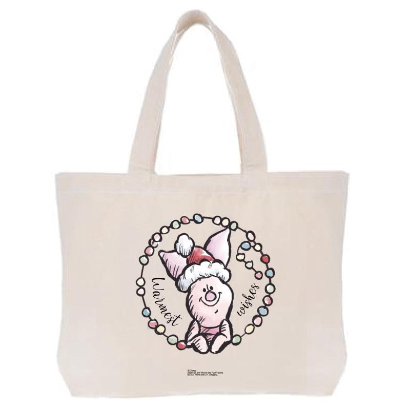 【D-Made】トートバッグ  くまのプーさん ピグレット クリスマス