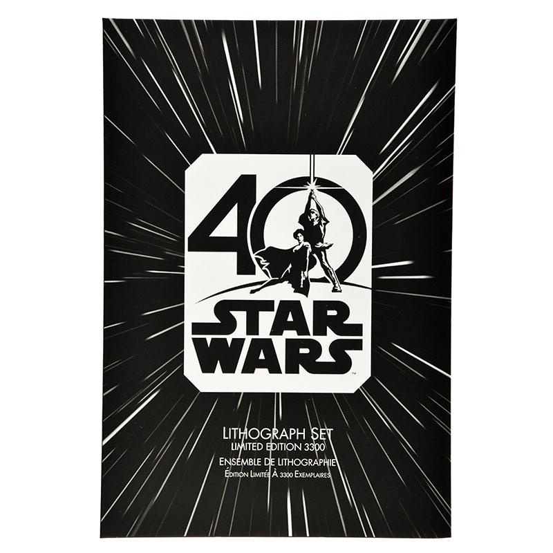 リトグラフセット スター・ウォーズ 40周年記念
