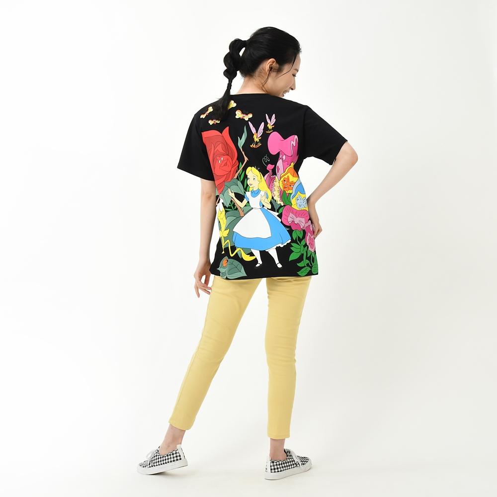 ふしぎの国のアリス 半袖Tシャツ バックプリント photogenic