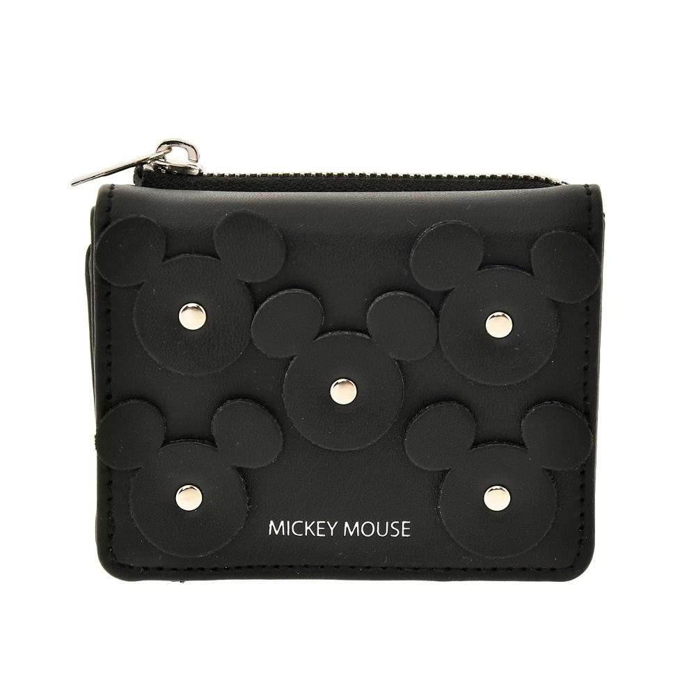 【送料無料】ミッキー 財布・ウォレット ブラック アイコン