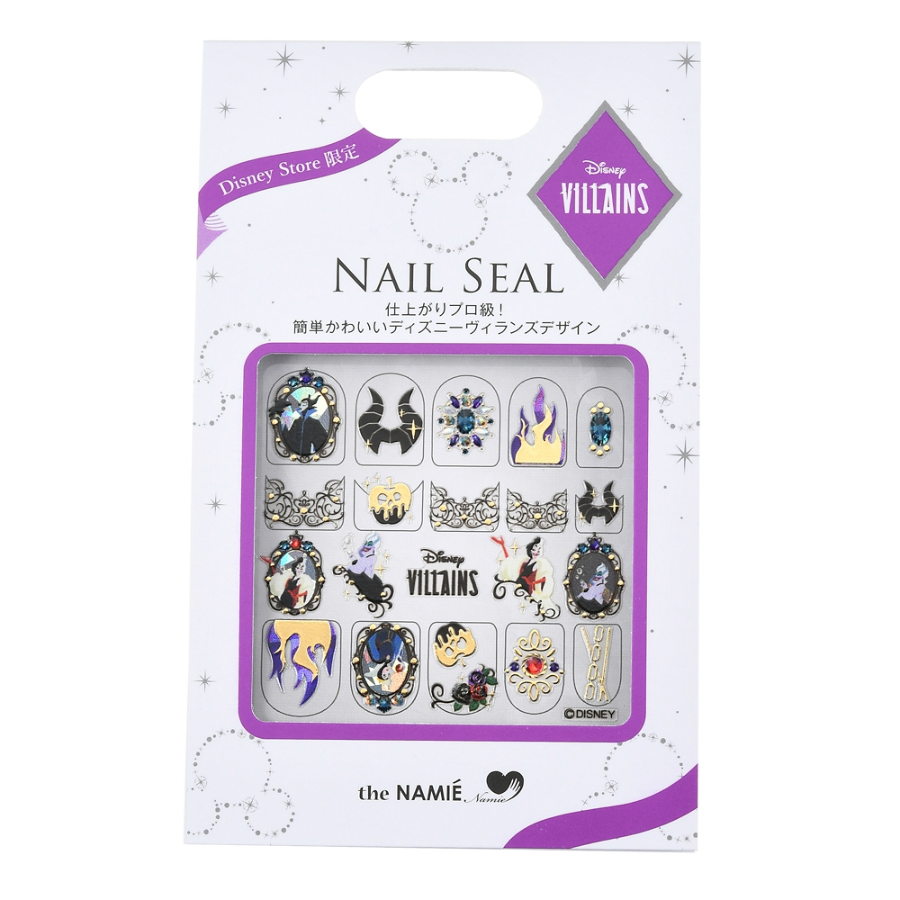【the NAMIE nail art collection】ディズニーヴィランズ ネイルシール ゴシック