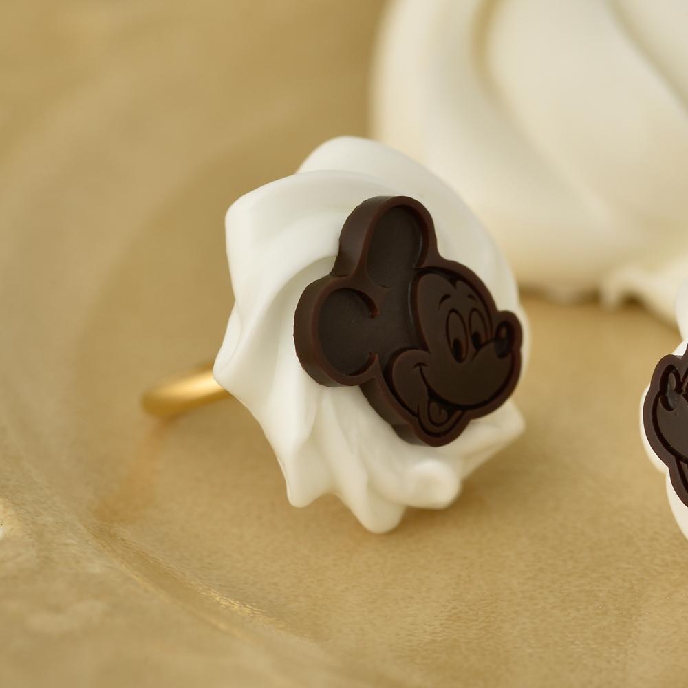【キューポット】ミッキーマウス/リング ホイップクリーム&チョコレート