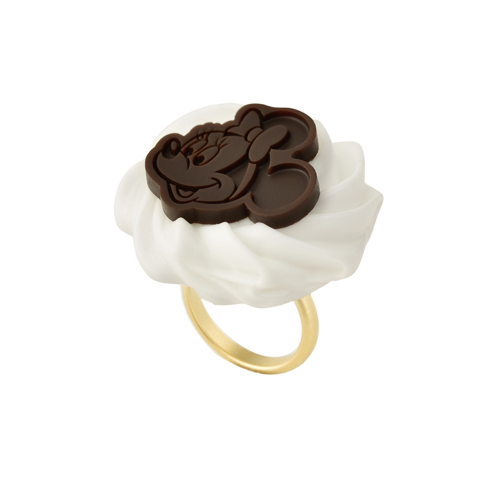 【キューポット】ミニーマウス/リング ホイップクリーム&チョコレート